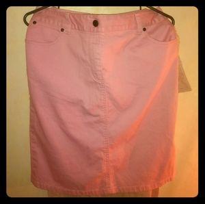 A cute, pink Jean skirt